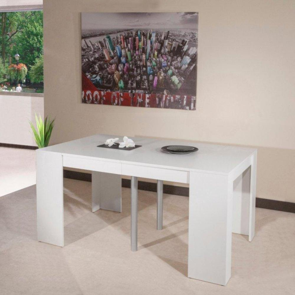 console extensible le gain de place tendance au meilleur prix console elasto blanc mat. Black Bedroom Furniture Sets. Home Design Ideas