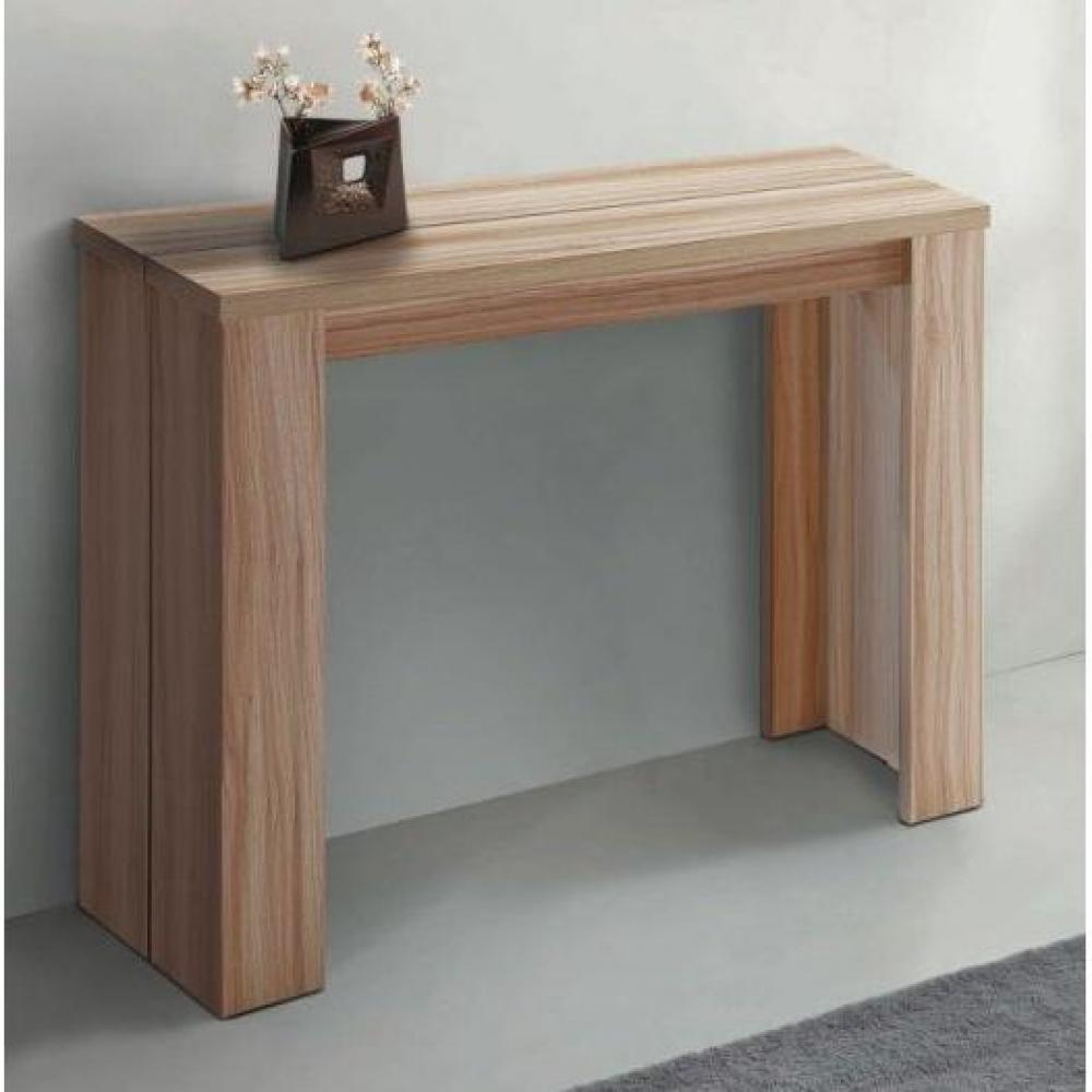 Table extensible perfect awesome console table extensible for Table console extensible chene