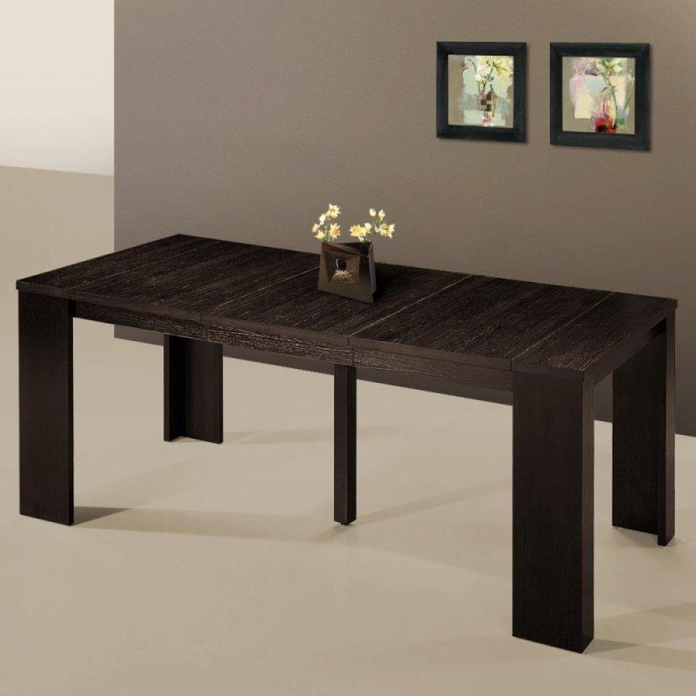Bureaux tables et chaises console extensible en table - Table extensible wenge ...