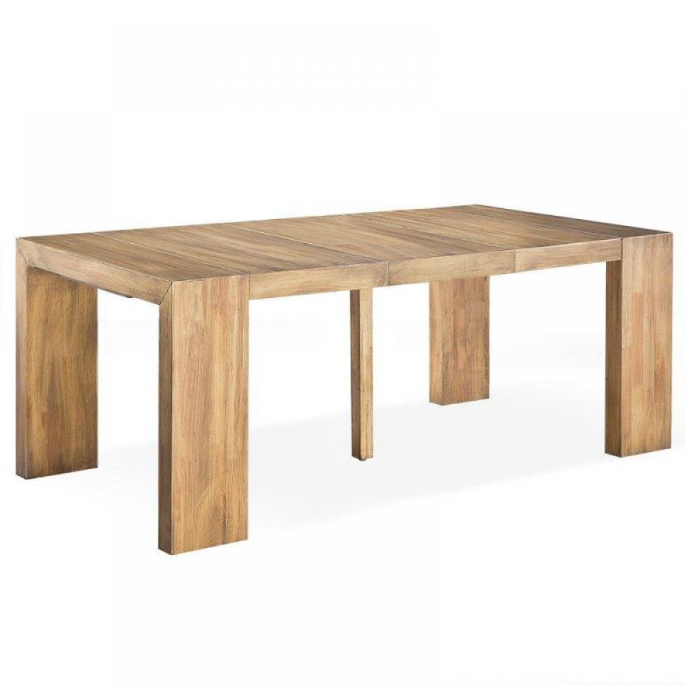 consoles extensibles meubles et rangements console extensible sublimo capuccino 10 couverts. Black Bedroom Furniture Sets. Home Design Ideas