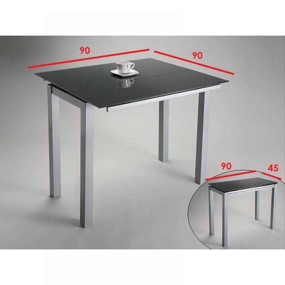 Armoire lit escamotables au meilleur prix console table extensible verso verre noir inside75 - Table console extensible noir ...