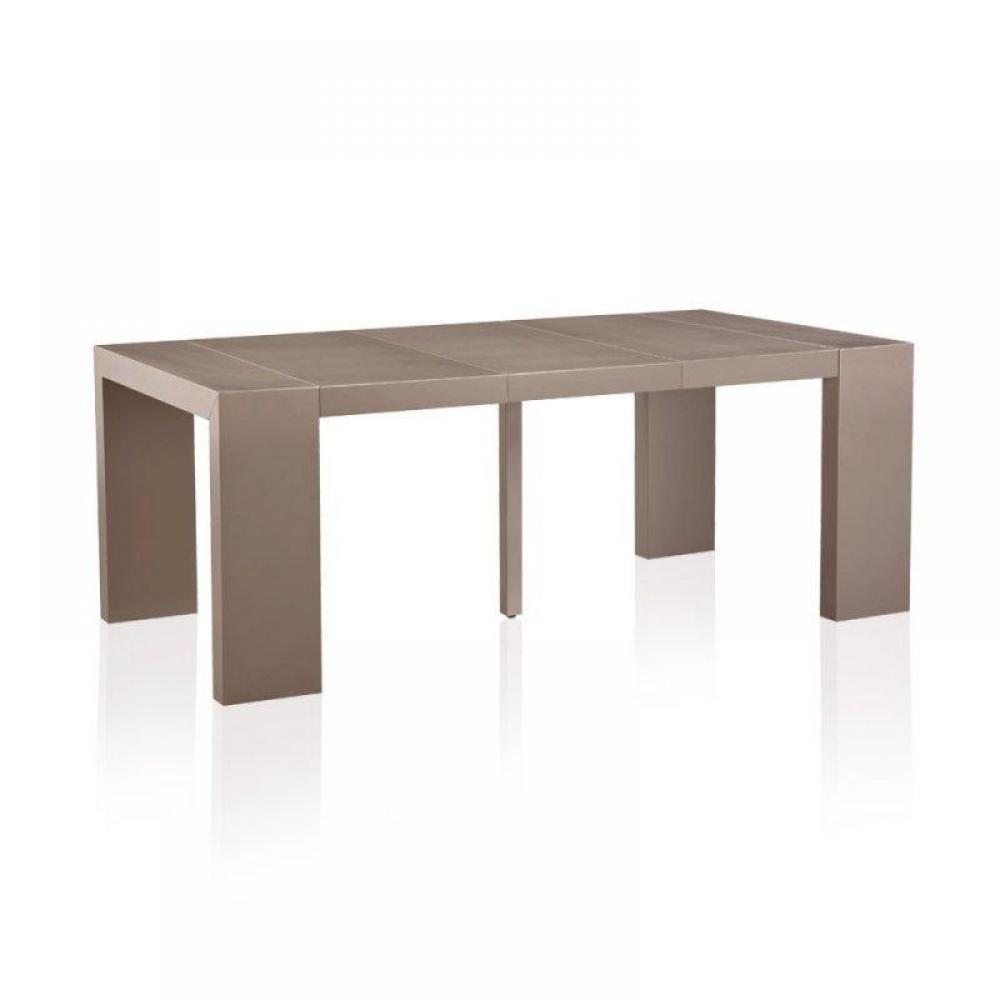 Bureaux meubles et rangements console extensible illusion taupe mat effet c - Console extensible taupe ...