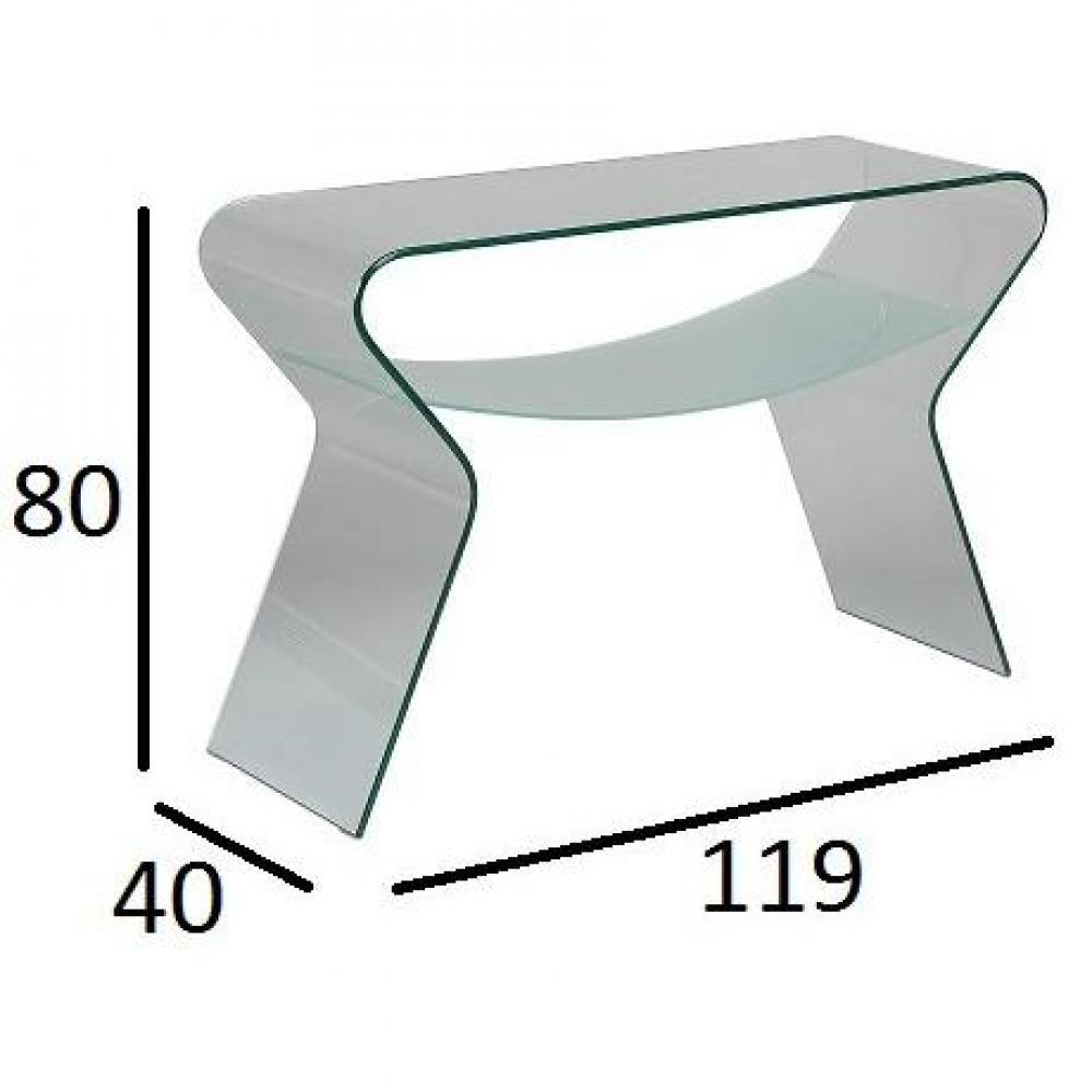 console design ultra tendance au meilleur prix console selene en verre inside75. Black Bedroom Furniture Sets. Home Design Ideas