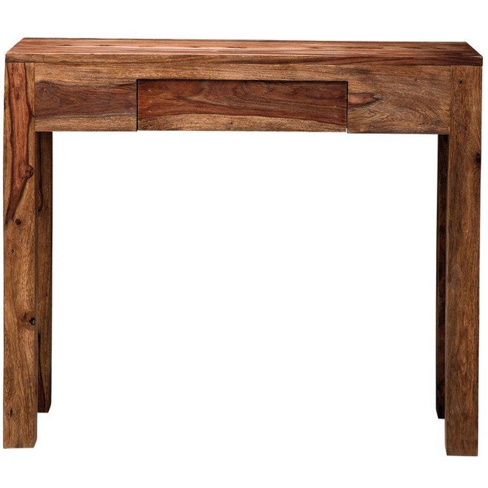 console design ultra tendance au meilleur prix console wood en bois massif 1 tiroir inside75. Black Bedroom Furniture Sets. Home Design Ideas
