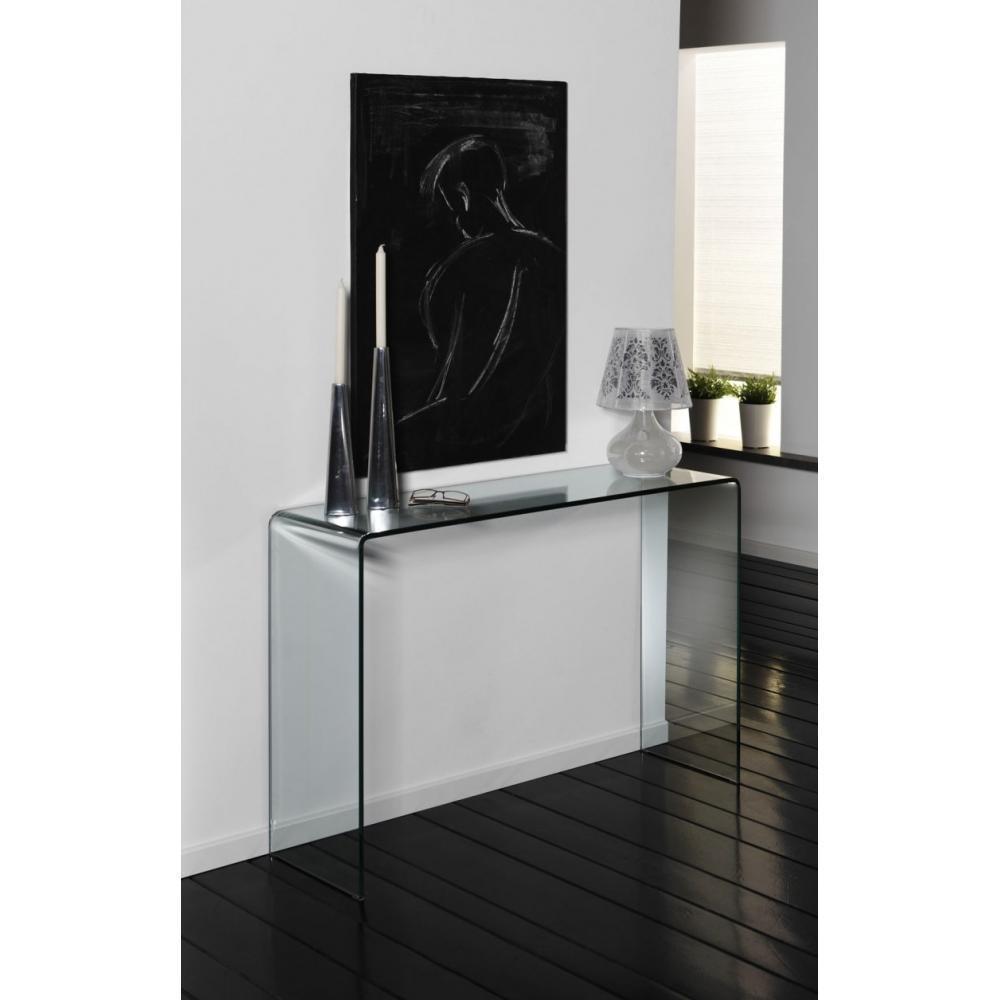 consoles meubles et rangements bridge console fixe en verre tremp design inside75. Black Bedroom Furniture Sets. Home Design Ideas