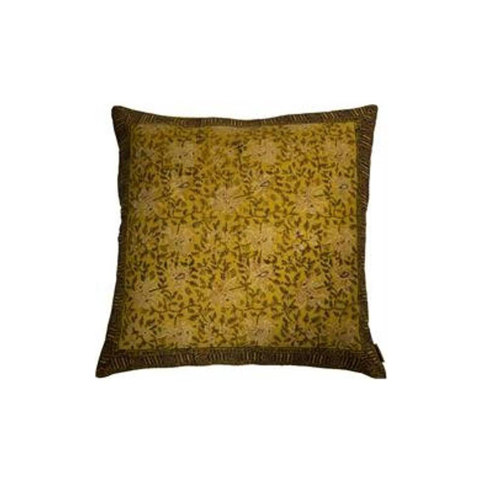 DUTCHBONE Coussin INDIAN BLOCK jaune