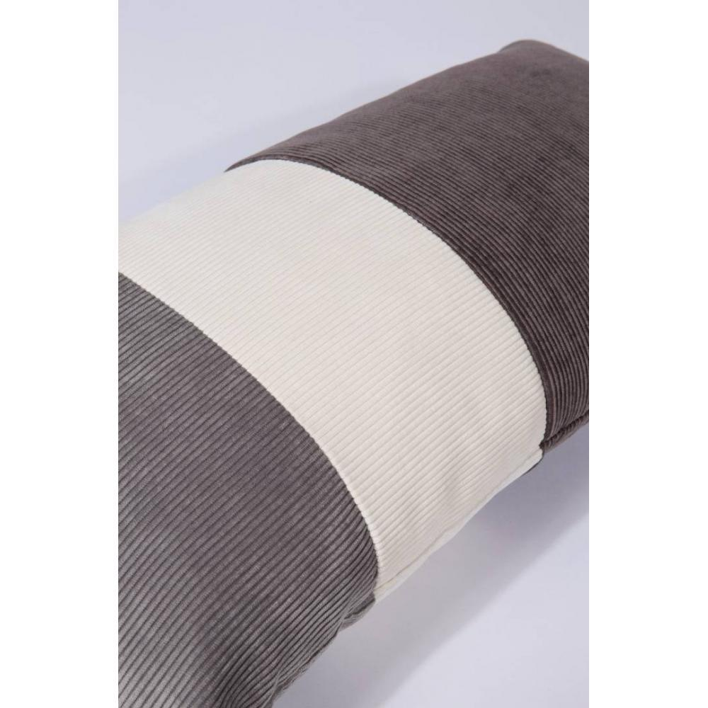 Coussin rectangle ZUIVER RIDGE GREY