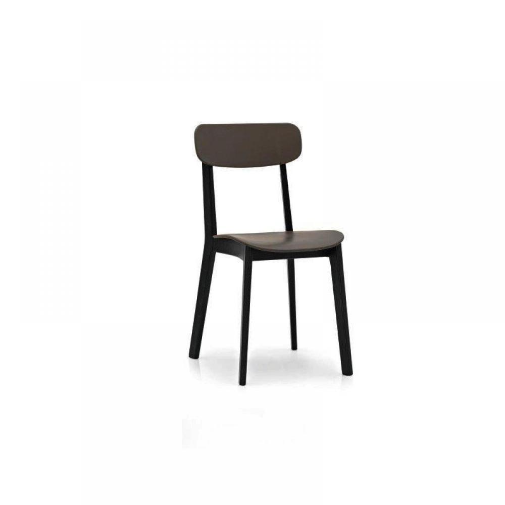 chaises meubles et rangements chaise design calligaris cream en plastique noir inside75. Black Bedroom Furniture Sets. Home Design Ideas