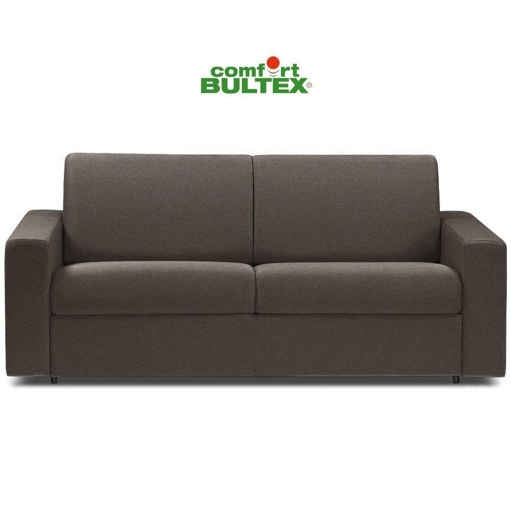 Canapé convertible rapido CRÉPUSCULE matelas 120cm comfort BULTEX® revêtement polyuréthane taupe