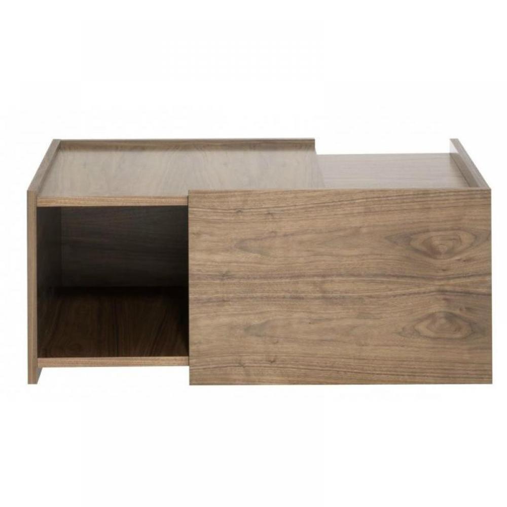 Table basse carr e ronde ou rectangulaire au meilleur - Cube rangement bois ...