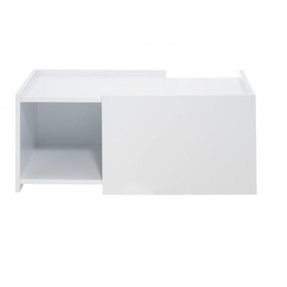 Table basse carr e ronde ou rectangulaire au meilleur - Cube blanc laque ikea ...