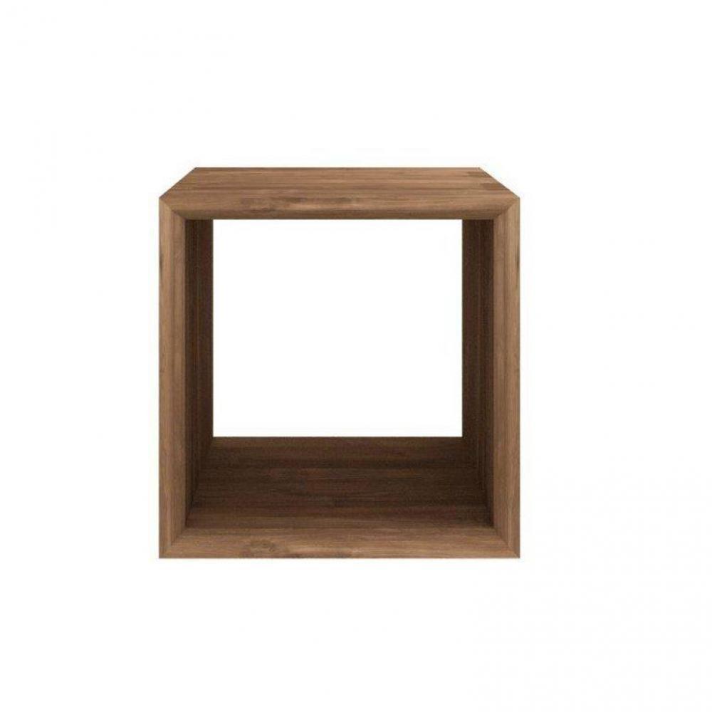 Etag res murales meubles et rangements cube mural design sigma noyer inside75 - Cube deco mural ...