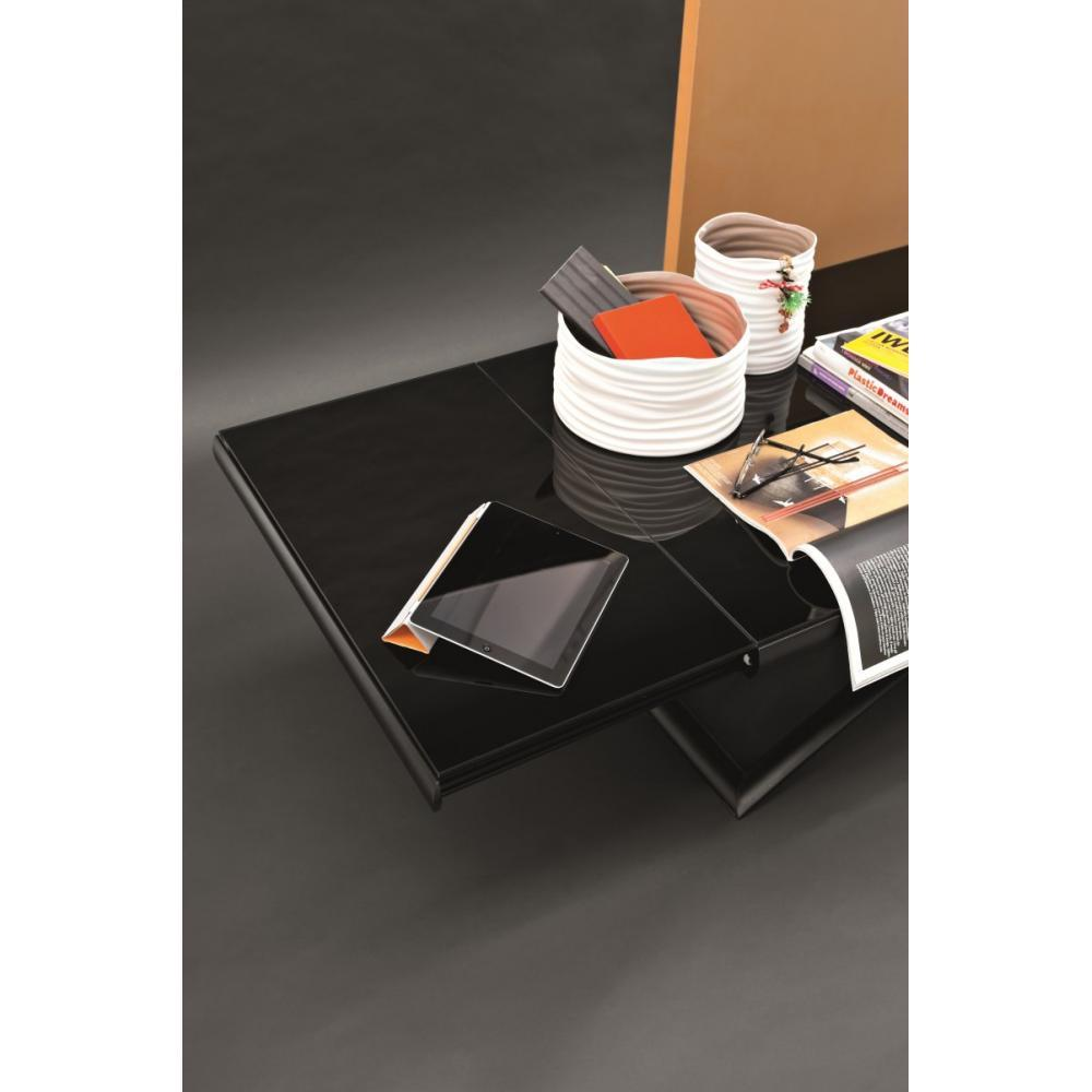 tables relevables meubles et rangements table calligaris relevable extensible dakota en verre. Black Bedroom Furniture Sets. Home Design Ideas