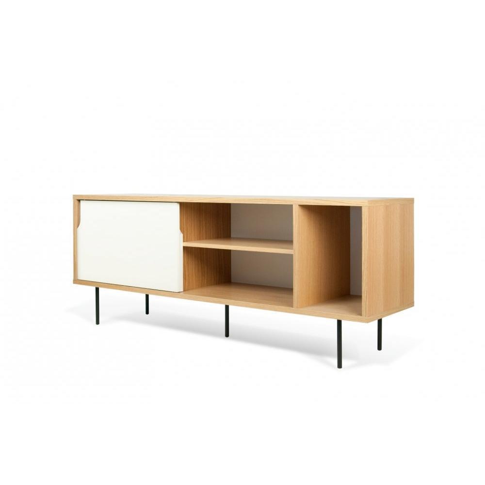 buffets meubles et rangements dann buffet design ch ne avec portes blanche pi tement acier. Black Bedroom Furniture Sets. Home Design Ideas