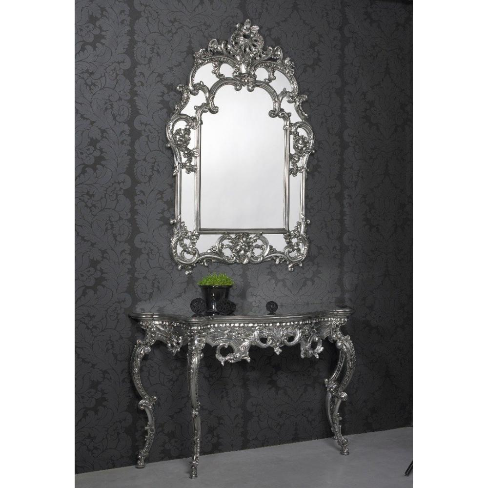 miroirs meubles et rangements daylight ensemble console et miroir design argent inside75. Black Bedroom Furniture Sets. Home Design Ideas