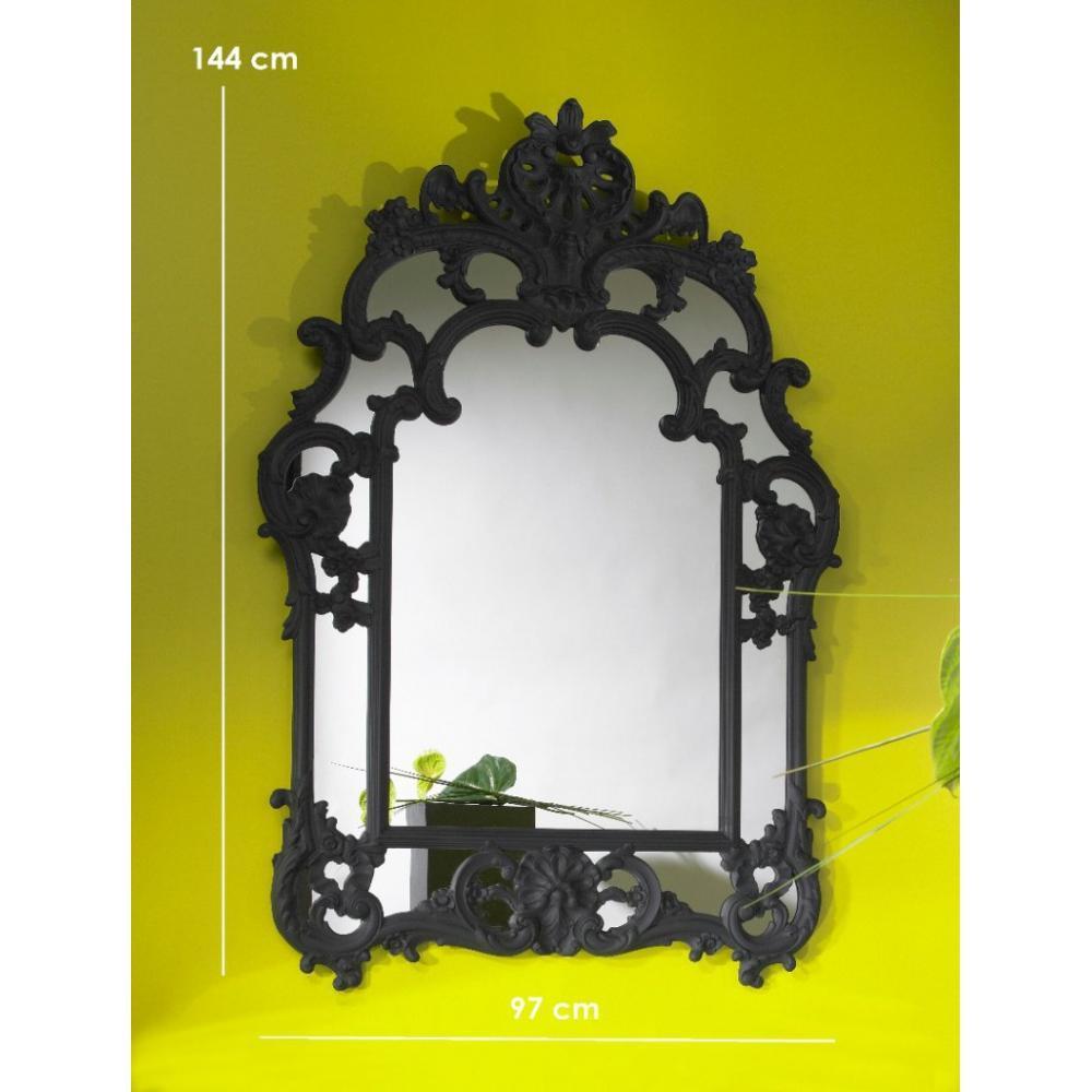 Miroirs meubles et rangements daylight miroir mural for Miroir noir design