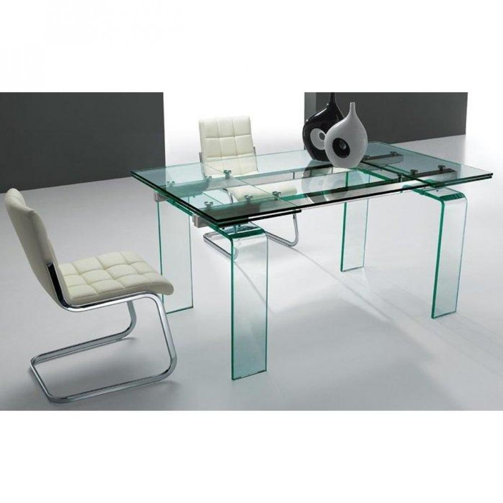 table de repas design au meilleur prix table de repas aero verre transparent extensible jusqu. Black Bedroom Furniture Sets. Home Design Ideas