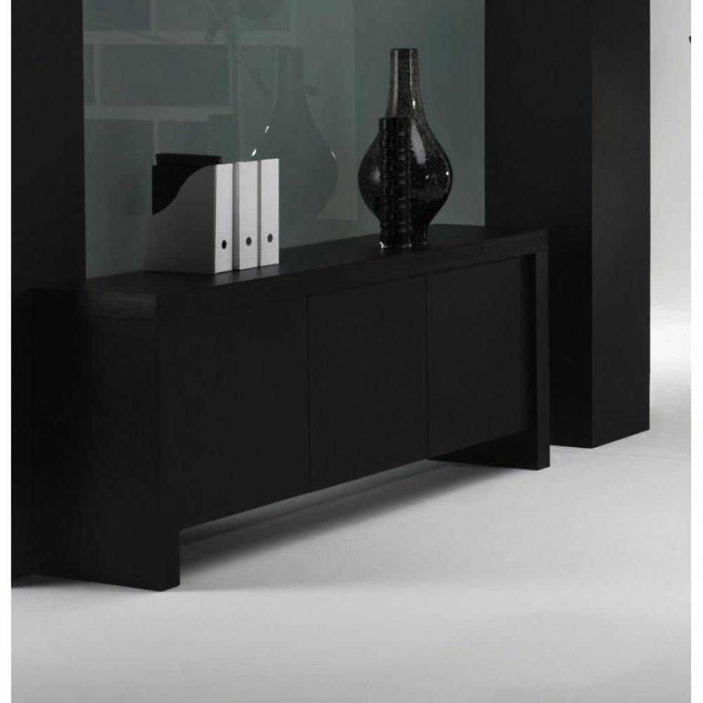 buffets meubles et rangements dock buffet console design laqu noir mat inside75. Black Bedroom Furniture Sets. Home Design Ideas