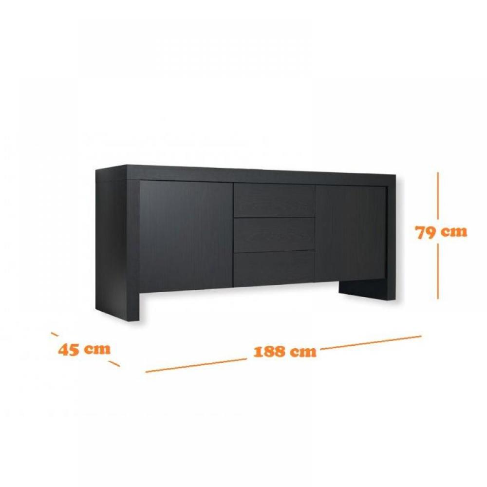 buffets meubles et rangements dock buffet wenge design avec portes et tiroirs inside75. Black Bedroom Furniture Sets. Home Design Ideas