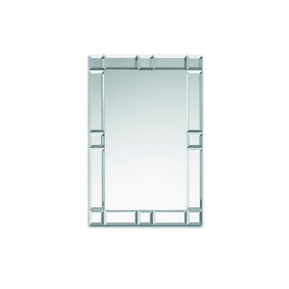 Petits miroirs meubles et rangements domino miroir mural for Meuble mural en verre