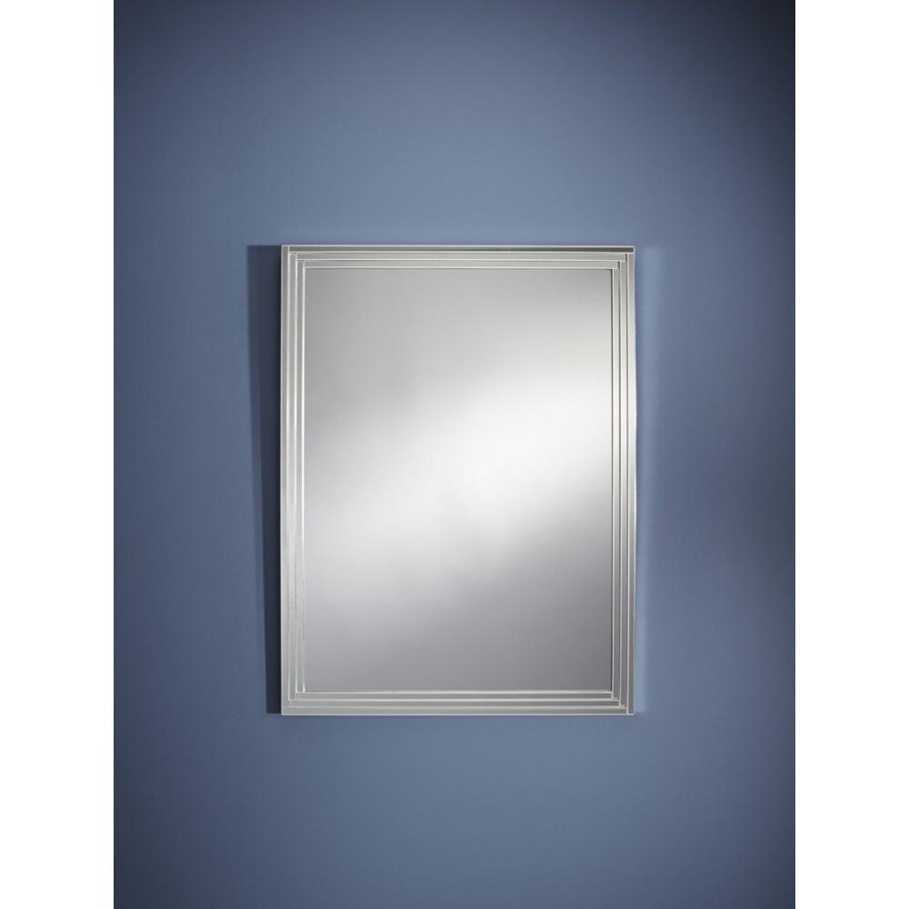 Miroirs meubles et rangements doors miroir mural en for Miroir d argent