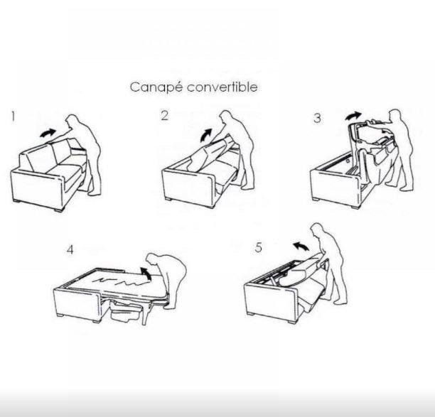 Canapé express 120 cm DREAMER EDITION Cuir et PU Cayenne gris matelas 16 cm