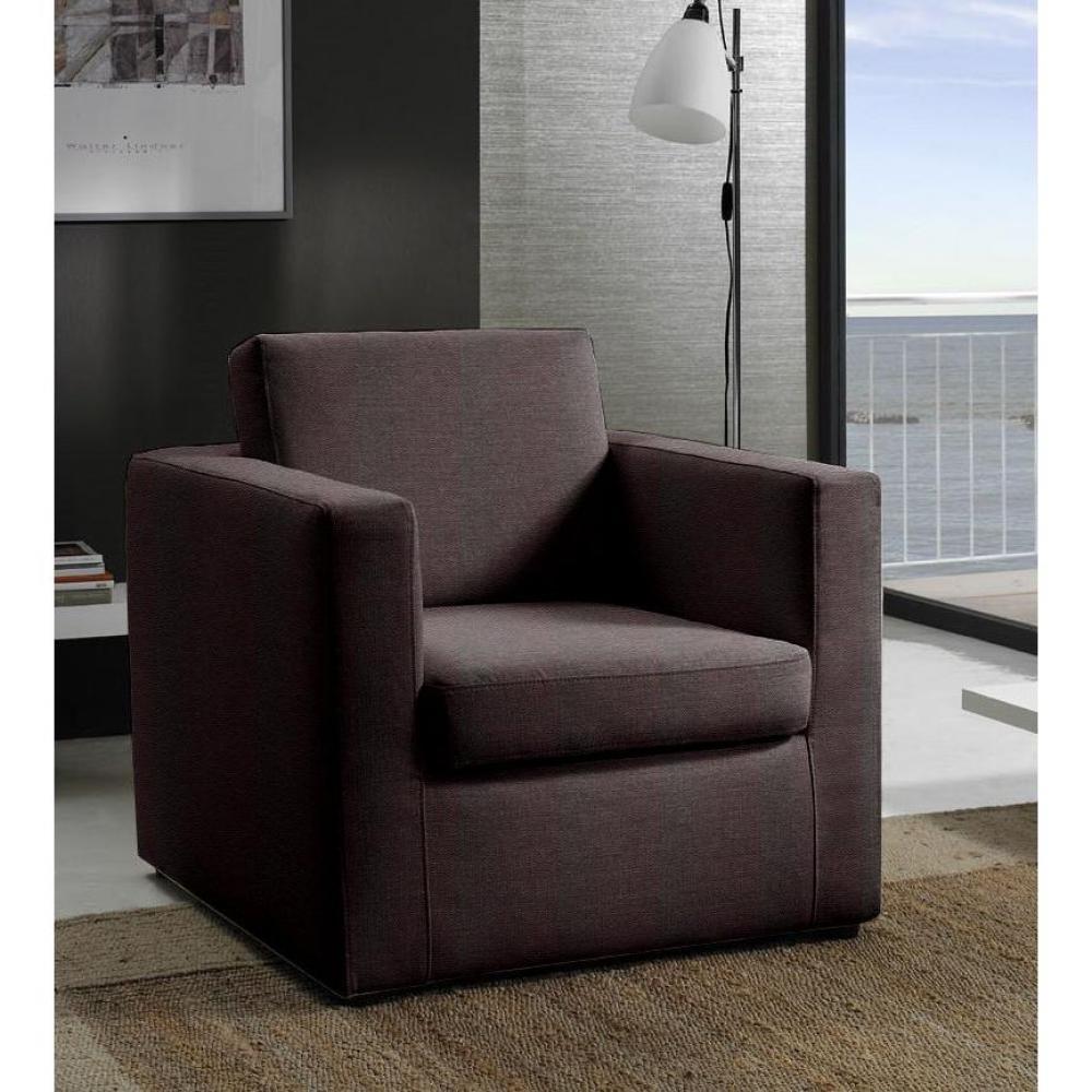 fauteuils design canap s et convertibles fauteuil fixe dreamer cuir vachette chocolat inside75. Black Bedroom Furniture Sets. Home Design Ideas