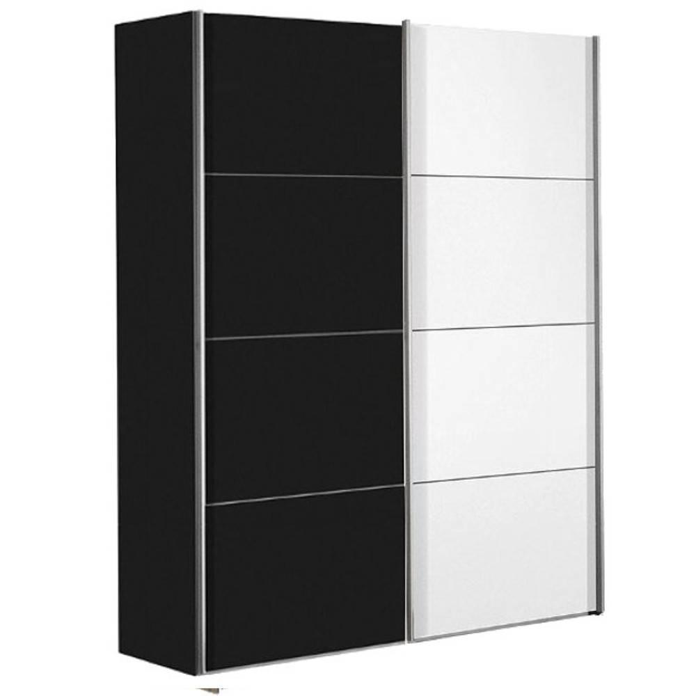 dressings et armoires chambre literie dressing kick 152cm en verre blanc brillant et. Black Bedroom Furniture Sets. Home Design Ideas