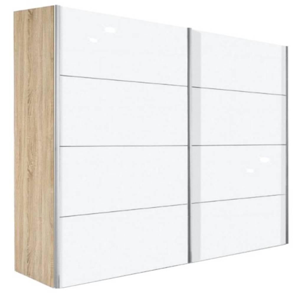 dressings et armoires chambre literie dressing kick 252cm coloris blanc brillant avec cadre. Black Bedroom Furniture Sets. Home Design Ideas