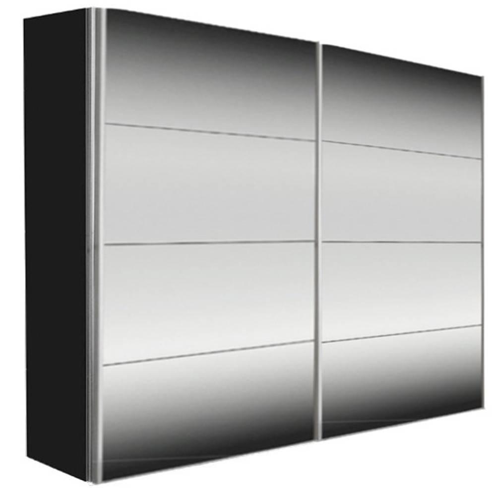chaises meubles et rangements dressing kick 202cm miroir et cadre noir avec portes. Black Bedroom Furniture Sets. Home Design Ideas