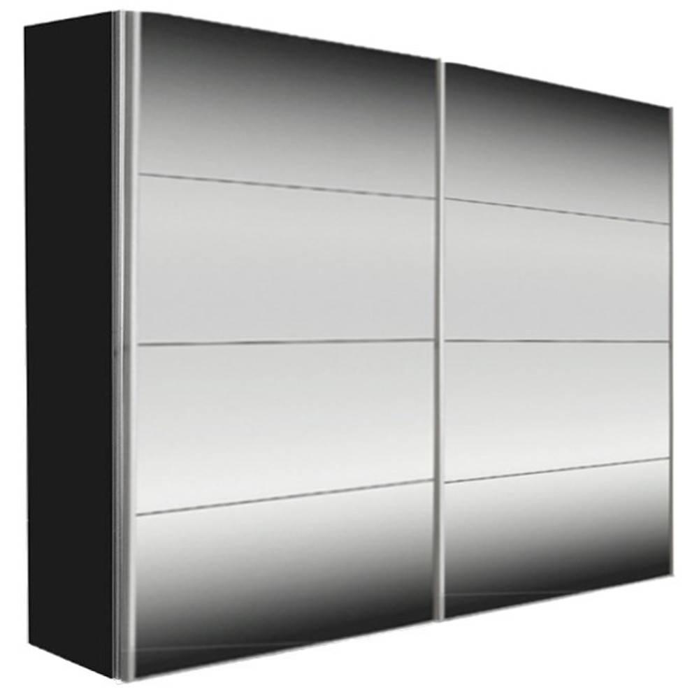 dressings et armoires meubles et rangements dressing kick 252cm miroir et cadre noir avec. Black Bedroom Furniture Sets. Home Design Ideas