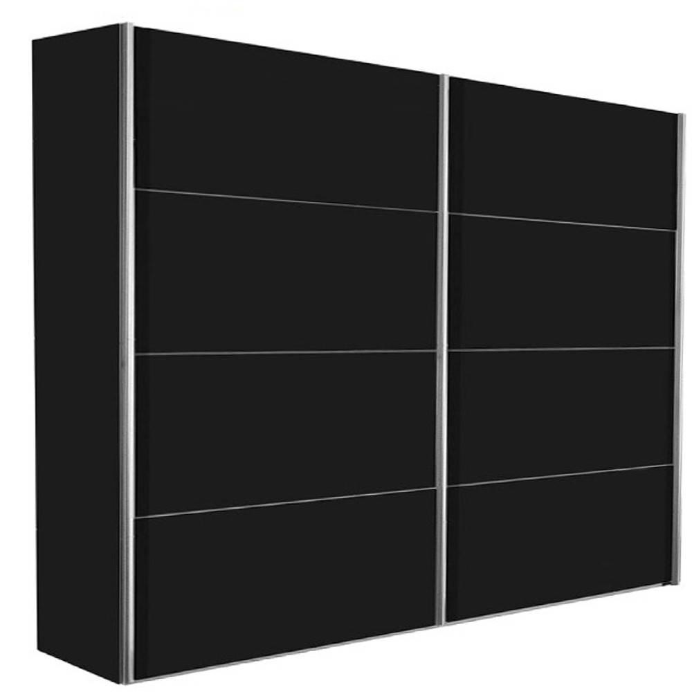 dressings et armoires chambre literie dressing kick 202cm en melamin noir mat avec portes. Black Bedroom Furniture Sets. Home Design Ideas