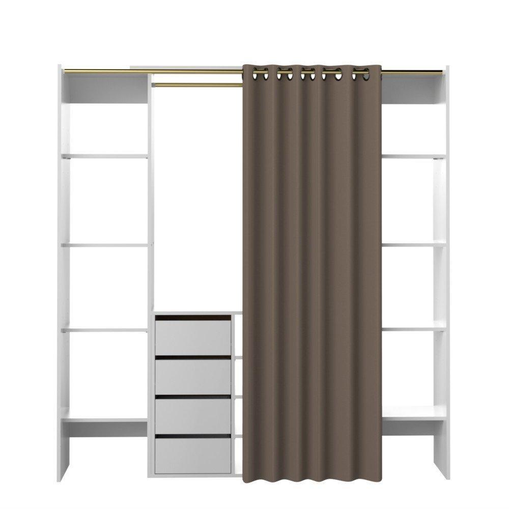 rideau taupe et blanc rideau de douche taupe et blanc. Black Bedroom Furniture Sets. Home Design Ideas