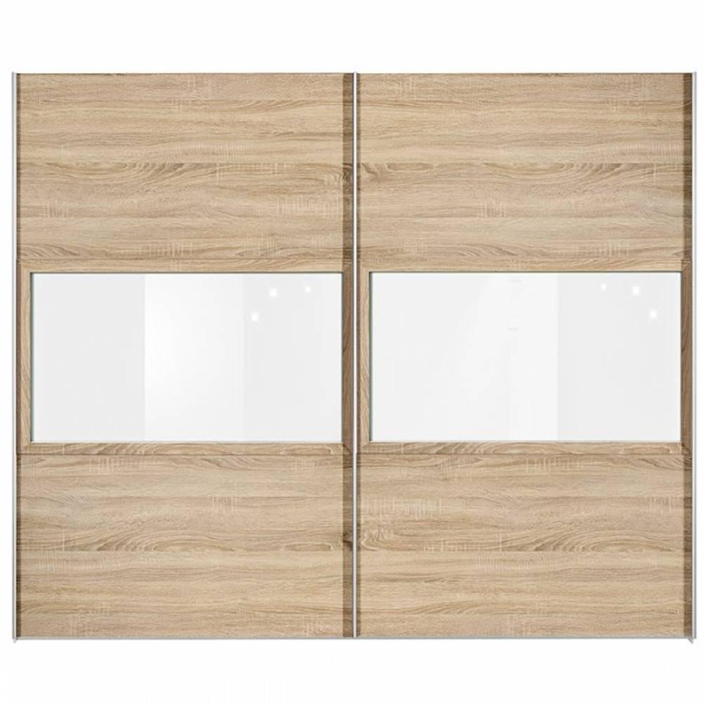 Dressings et armoires meubles et rangements dressing penderie oslo deux por - Porte coulissante chene ...