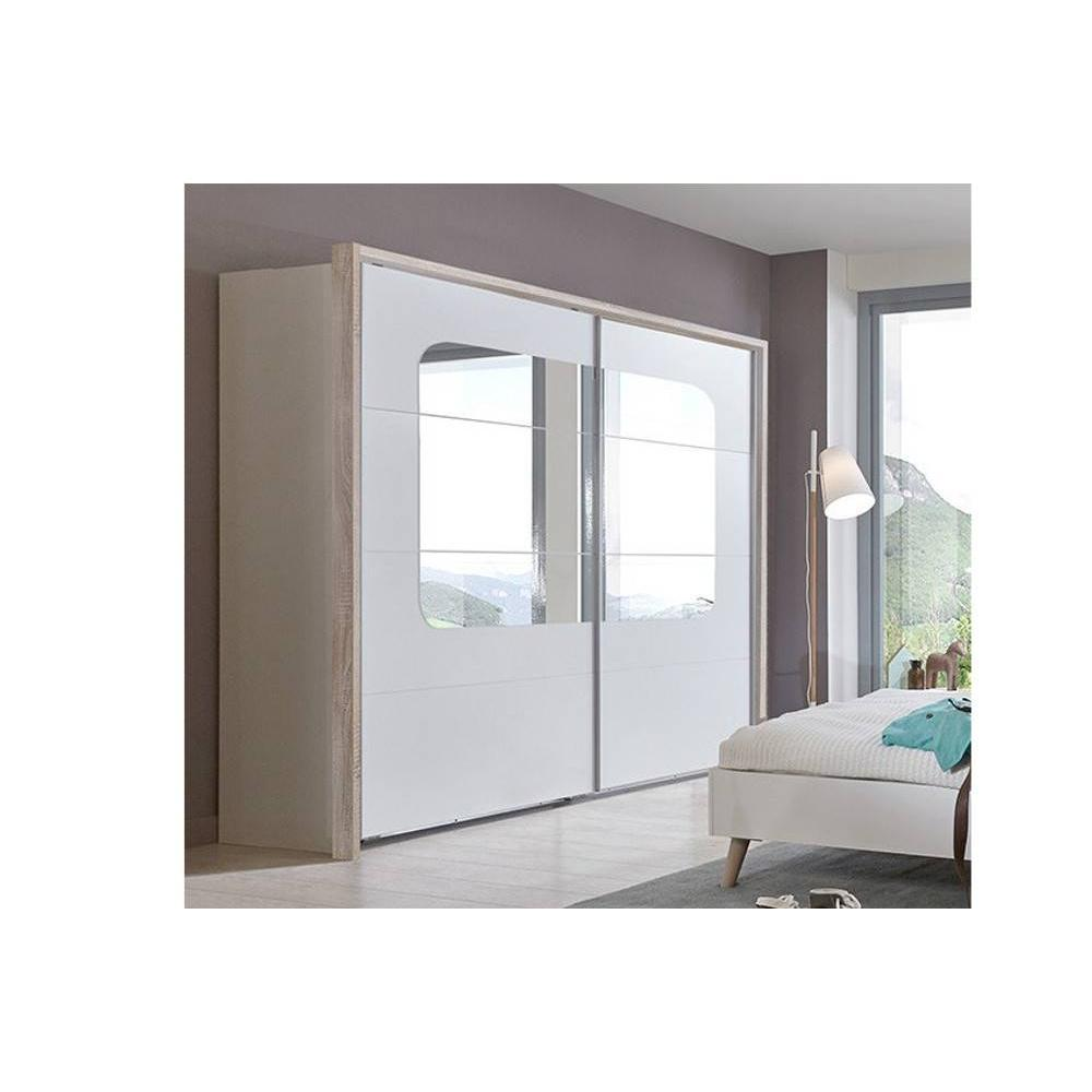 dressings et armoires meubles et rangements dressing viborg 270cm style scandinave portes. Black Bedroom Furniture Sets. Home Design Ideas