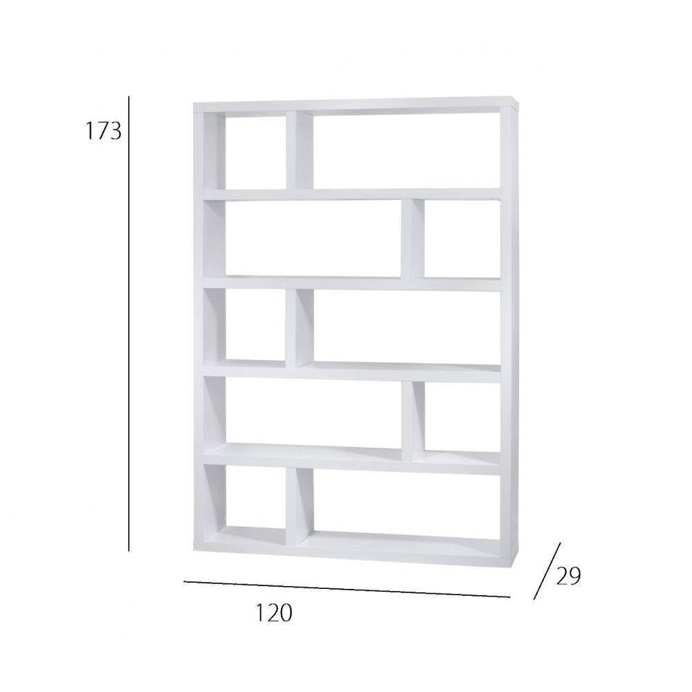 biblioth ques tag res meubles et rangements biblioth que tag re dublin 10 casiers blanche. Black Bedroom Furniture Sets. Home Design Ideas