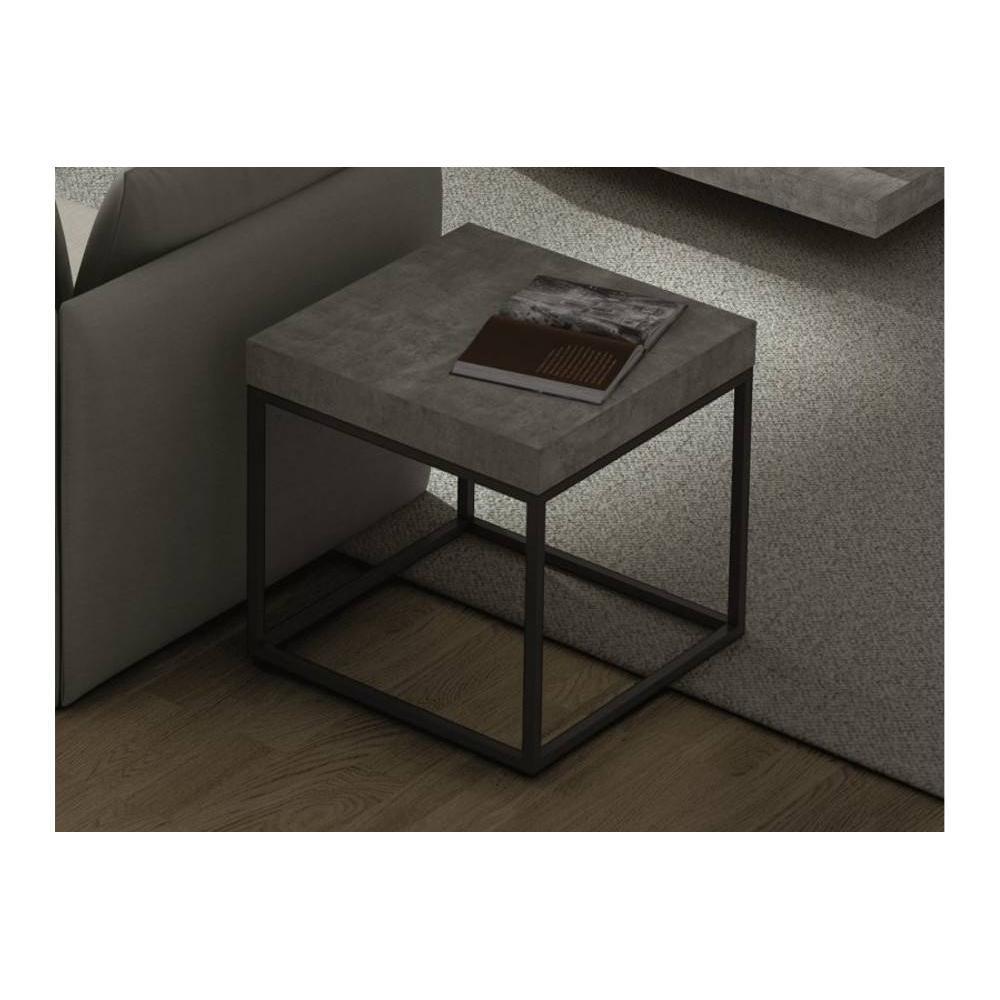 Chevets meubles et rangements temahome petra table basse - Table basse imitation beton ...