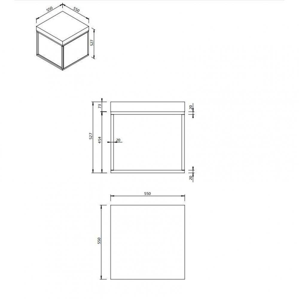 PETRA table basse guéridon aspect béton avec piétement métal