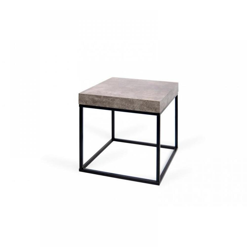Chevets meubles et rangements temahome petra table basse gu ridon aspect b - Table imitation beton ...