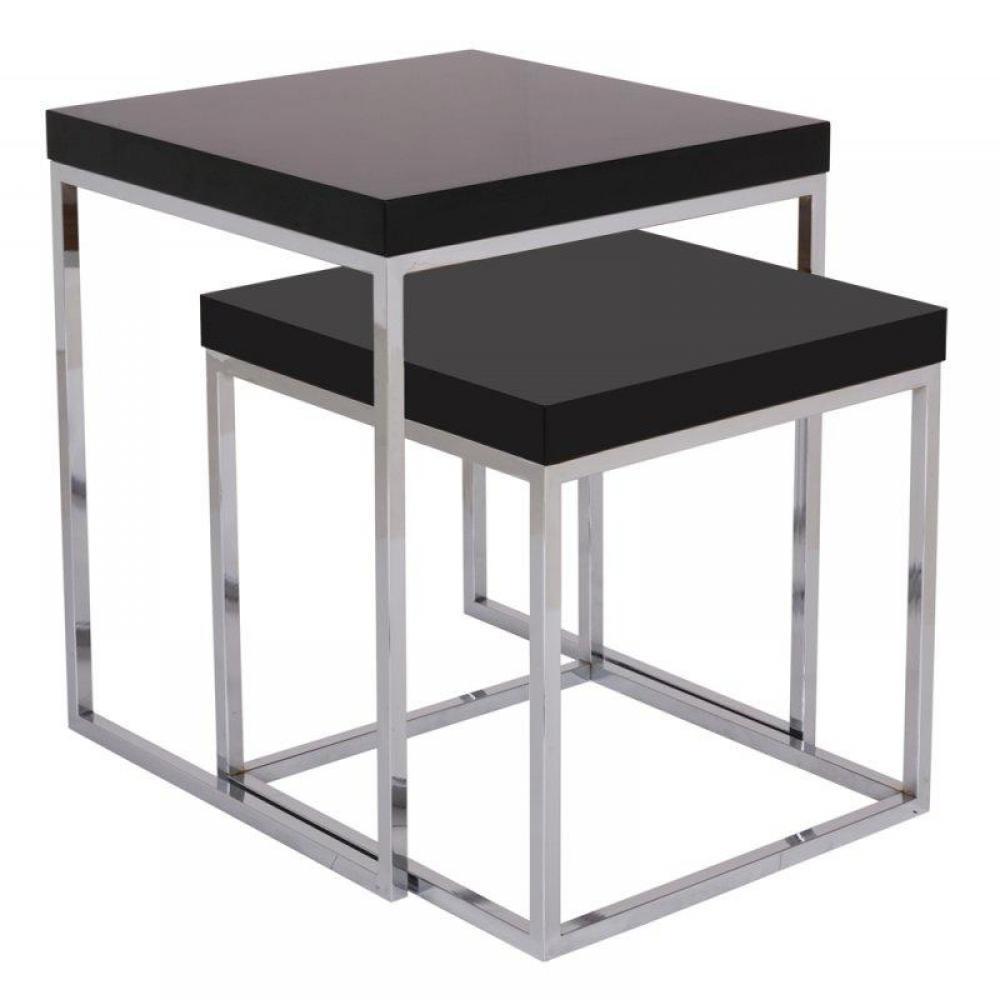 table gigogne noir amazing lot de tables gigognes metal. Black Bedroom Furniture Sets. Home Design Ideas