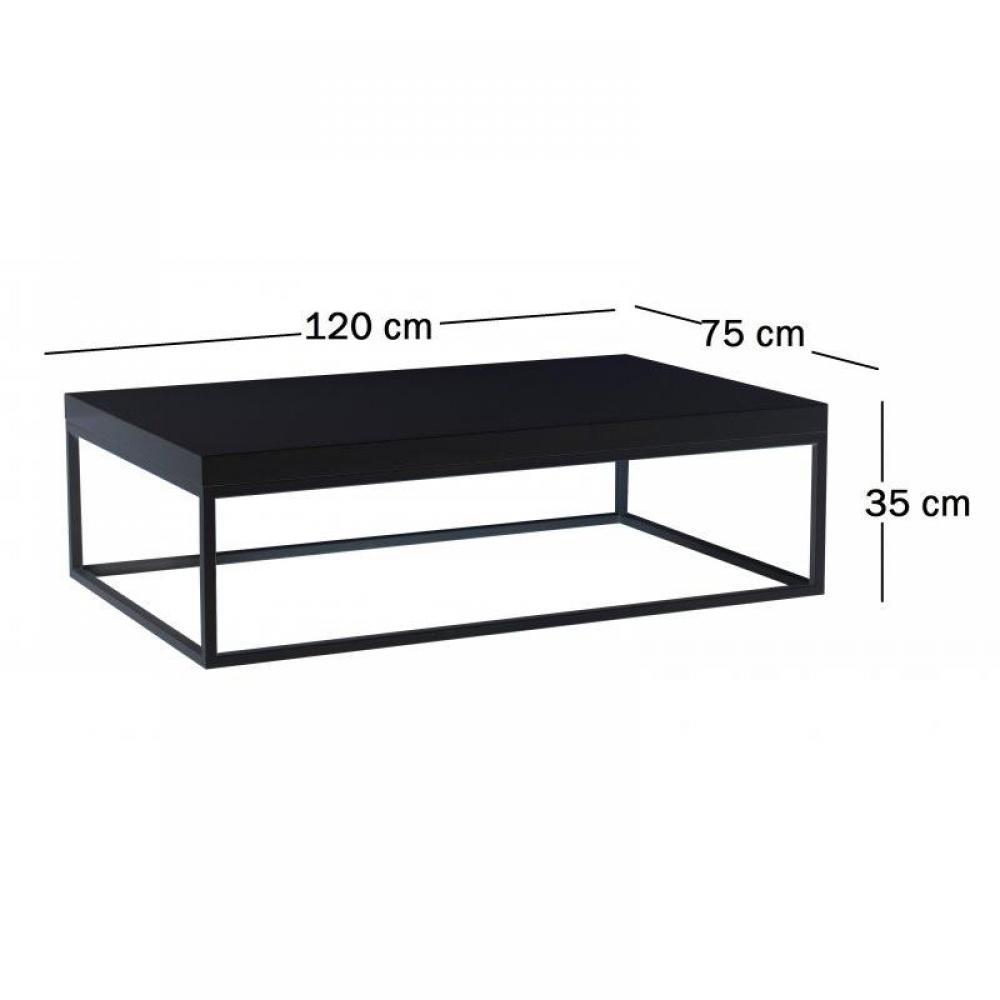 Table basse carr e ronde ou rectangulaire au meilleur for Table basse ronde noire laquee