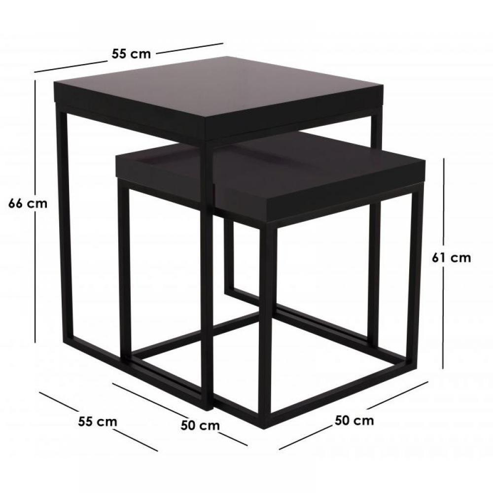 table basse carr e ronde ou rectangulaire au meilleur prix lot de 2 tables gigognes duke. Black Bedroom Furniture Sets. Home Design Ideas