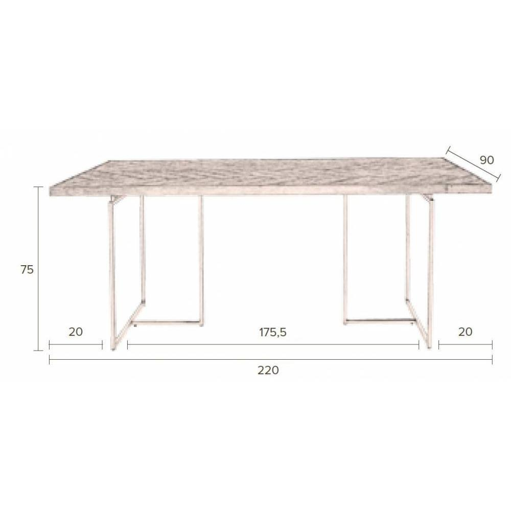 DUTCHBONE Table repas CLASS 220 x 90 cm en acacia