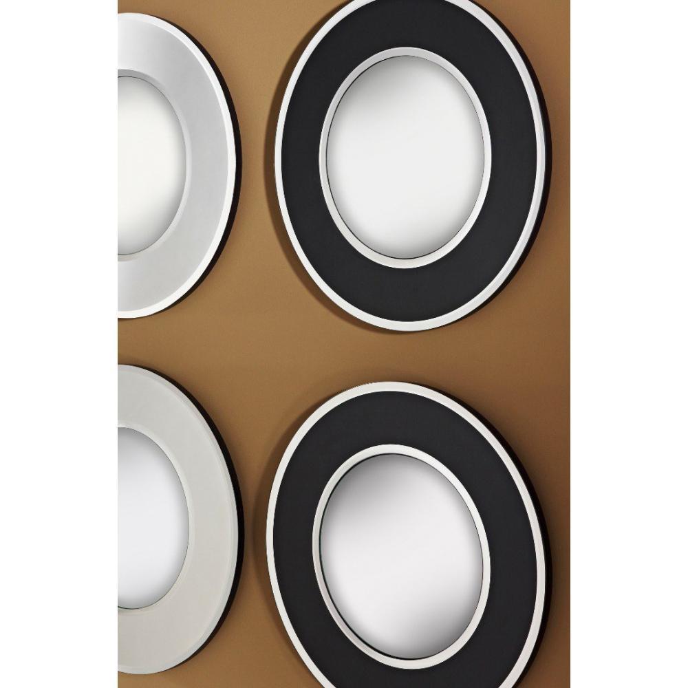 Miroirs meubles et rangements echo miroir mural design for Miroir blanc rond