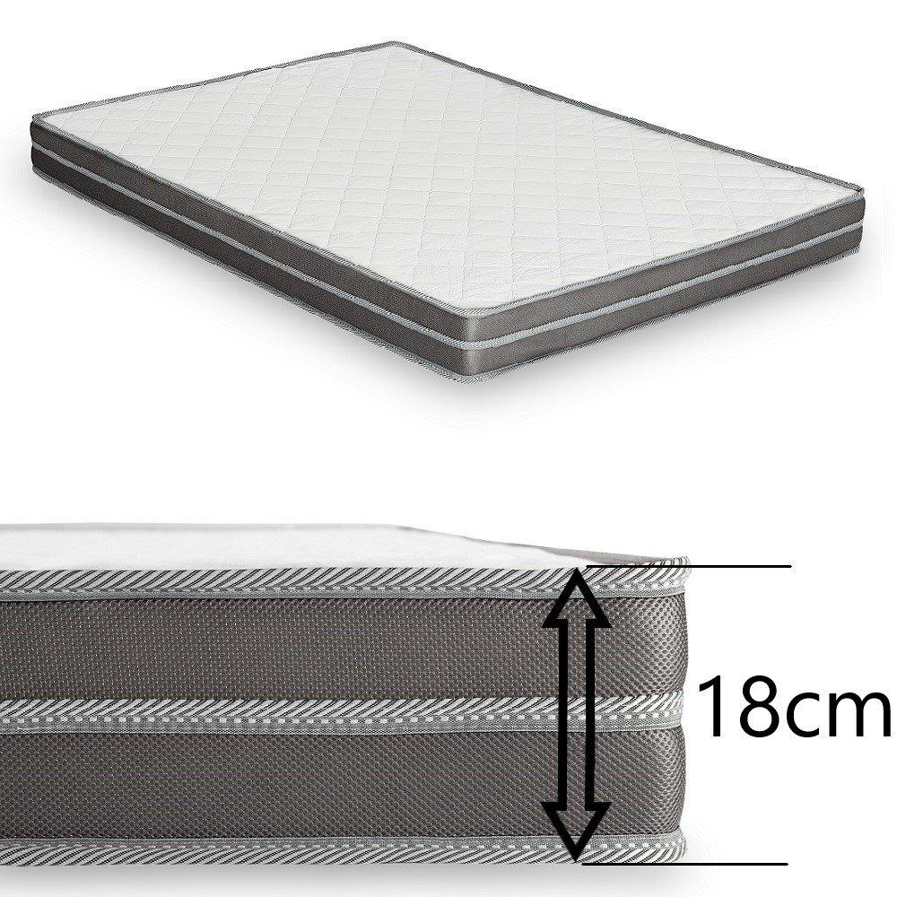 Canapé lit express ECLIPSE ELITE polyuréthane taupe sommier lattes 140cm assises et matelas mémoire de forme