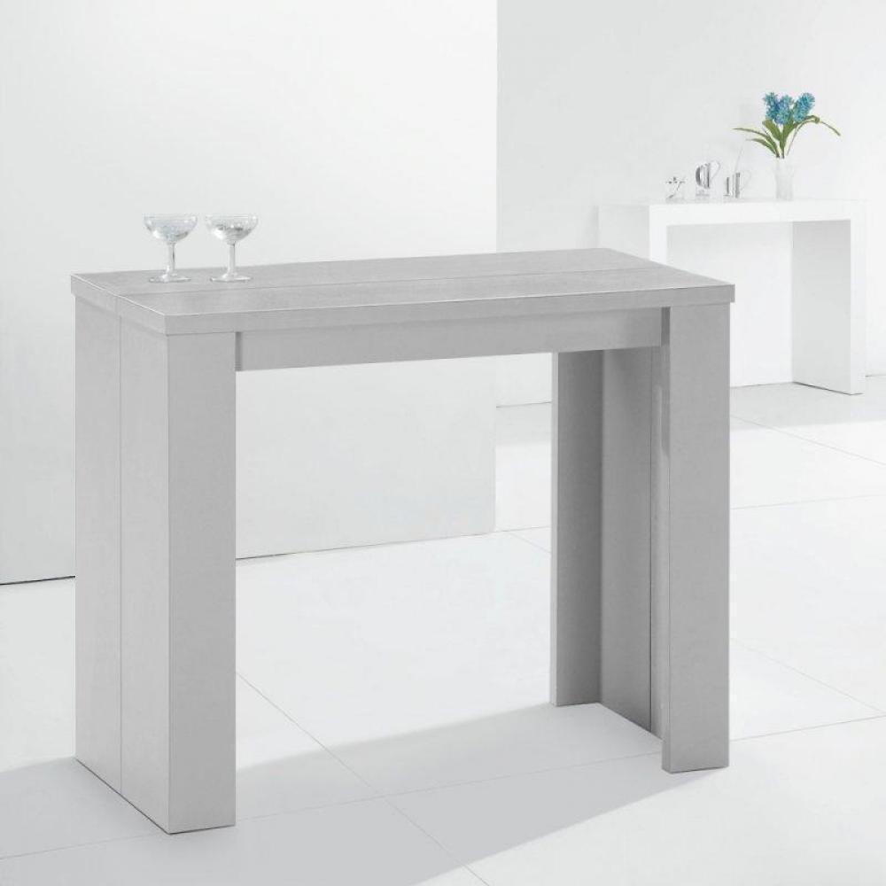bureaux tables et chaises console extensible en table repas elasto argent e inside75. Black Bedroom Furniture Sets. Home Design Ideas