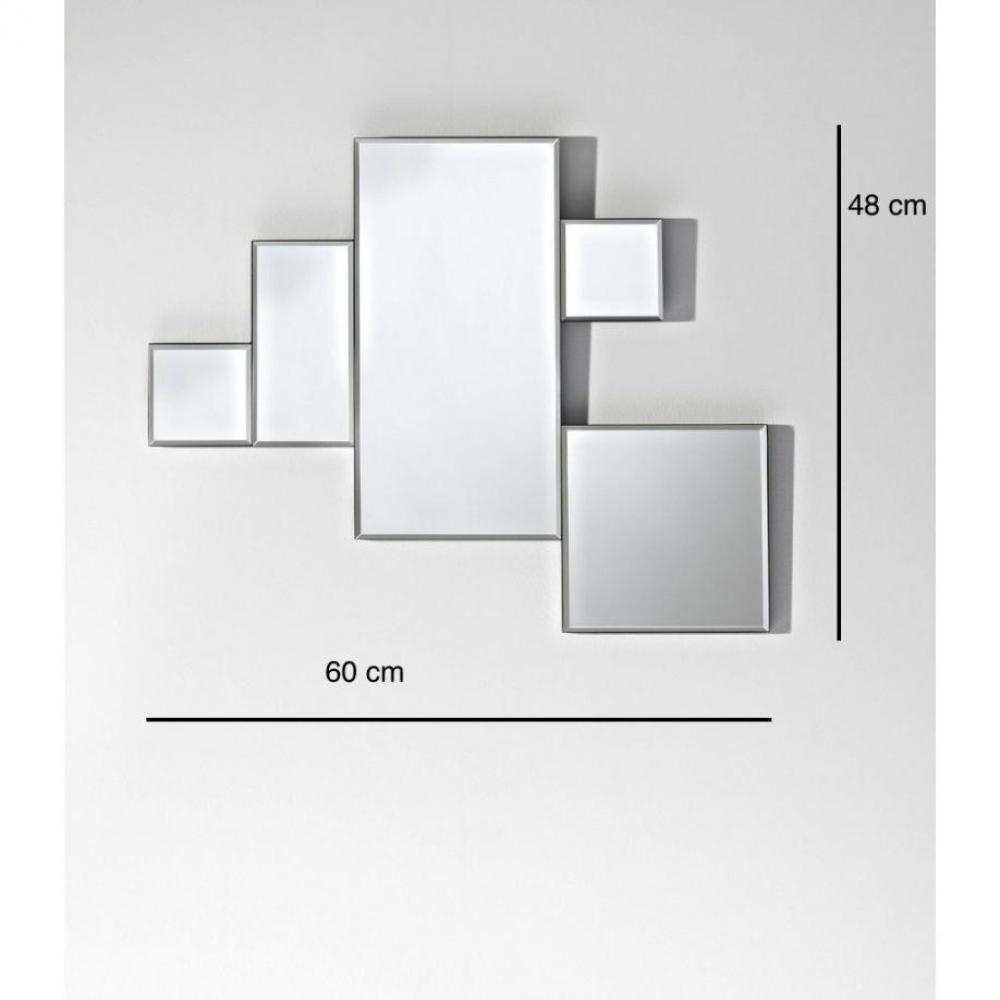 Miroirs meubles et rangements elements miroir mural for Miroir design belgique