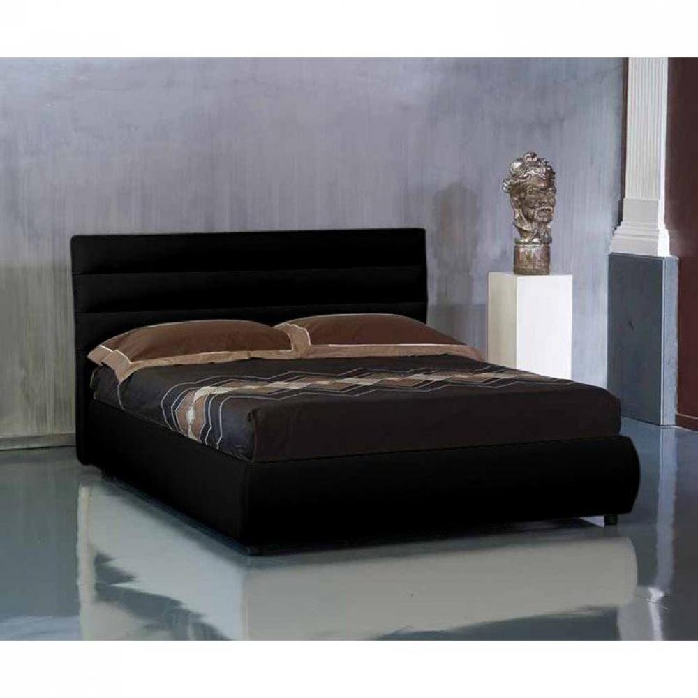 lits coffres chambre literie lit coffre design elisabetha noir couchage 2 personnes 160. Black Bedroom Furniture Sets. Home Design Ideas