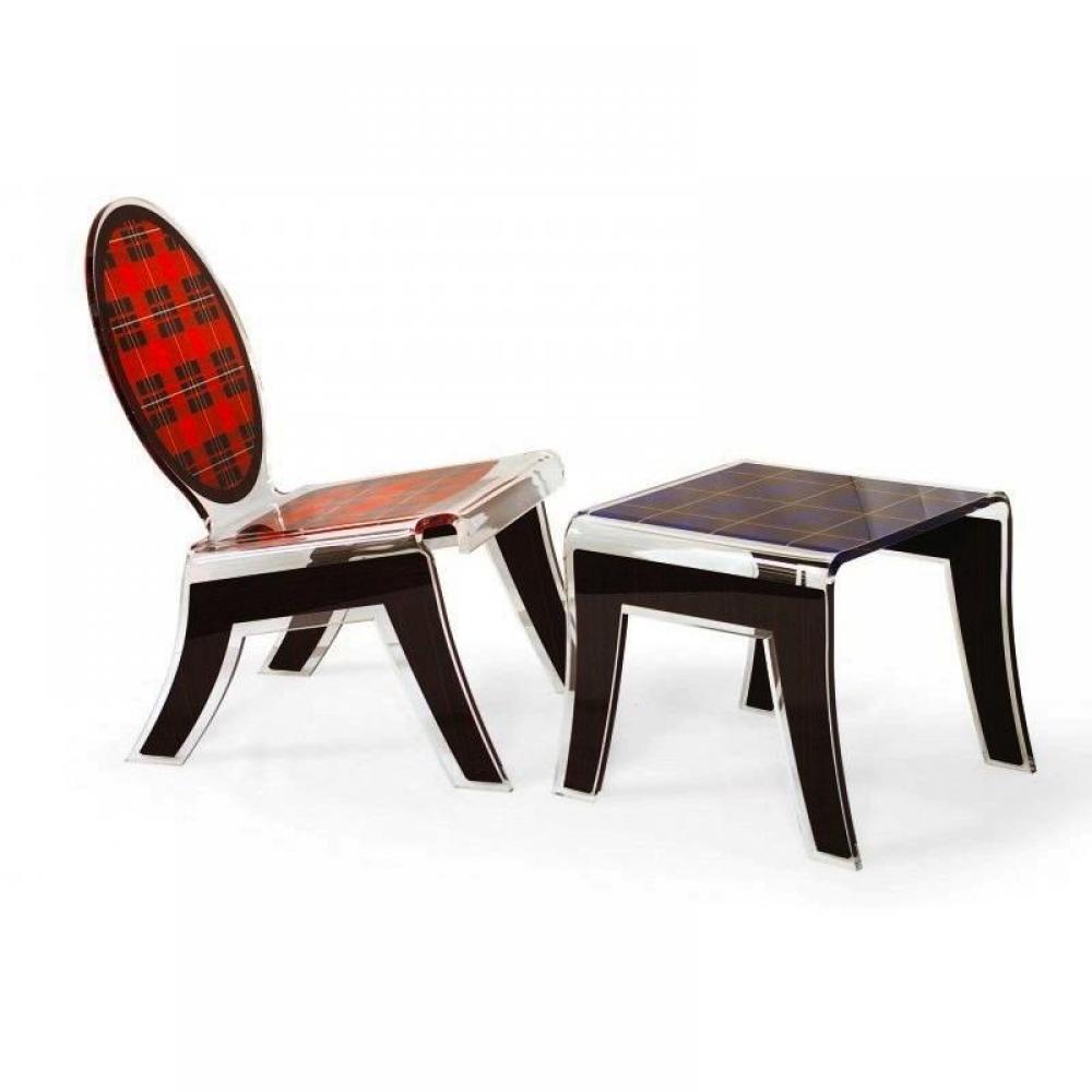 fauteuils et poufs meubles et rangements chaise et tabouret ecossais plexi acrila design. Black Bedroom Furniture Sets. Home Design Ideas