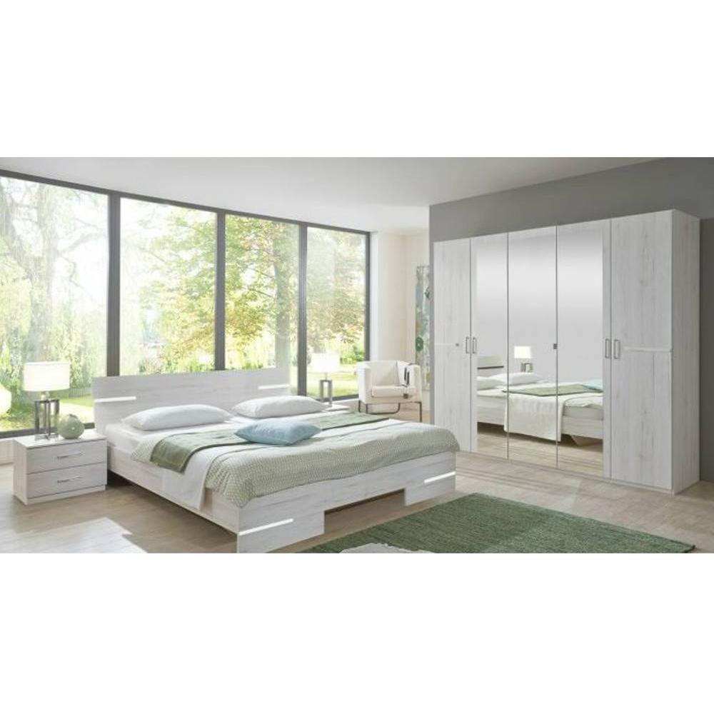 Chambre à coucher CARAMELLA chêne blanc. Pièce maîtresse, roi incontesté de nos chambres et de nos nuits, le lit se d